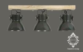 Plafondlamp Industrieel Angelique 3 spots - Army groen