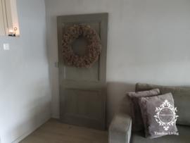 Origineel oud houten paneeldeur kalkverf 189 x 88