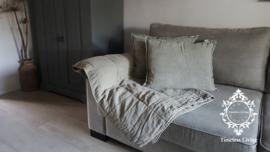 MrsBLOOM Quilt plaid - Olive grey 170 x 130
