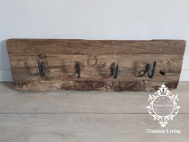 Kapstok Railway - Stoer oud houten wagondelen no. 16