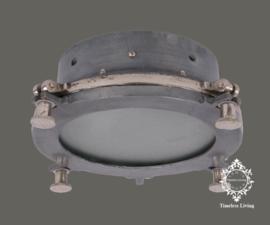 Plafondlamp Giovanni - Industrieel Lood & Ruw nikkel - Maat M Ø 32 cm.