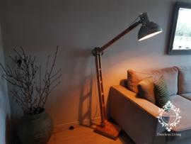 Vloerlamp Industrieel Angelique - Vintage Metaal naturel