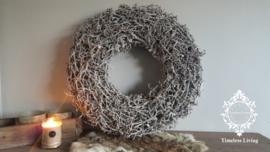 Krans Bonsai grijze kleur - Maat XL
