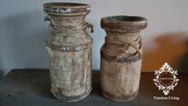 Waterkruik oud houten kandelaar - Maat M - no. 6