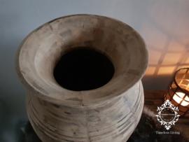 Oud houten Nepalese kruik XXL no. 12