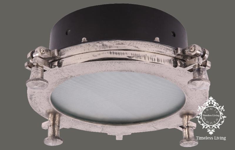 Plafonnière / Plafondlamp Giovanni - Industrieel - Mat zwart & Ruw nikkel