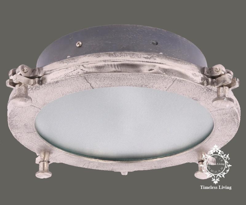 Plafondlamp Giovanni - Industrieel Lood & Ruw nikkel - Maat L Ø 42 cm.