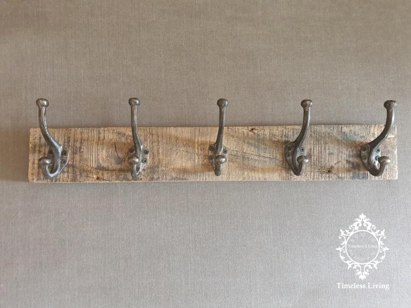 Kapstok - Stoer & sober oud hout no. 34
