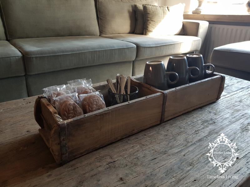 Steenmal / baksteenmal - Oud hout met ijzerwerk - 2 vaks