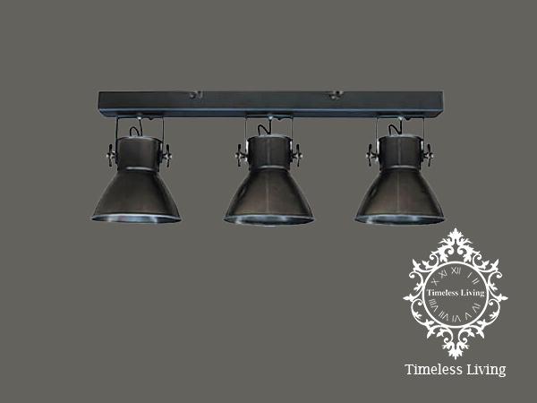 Plafondlamp Industrieel Angelique 3 spots - Metaal Black