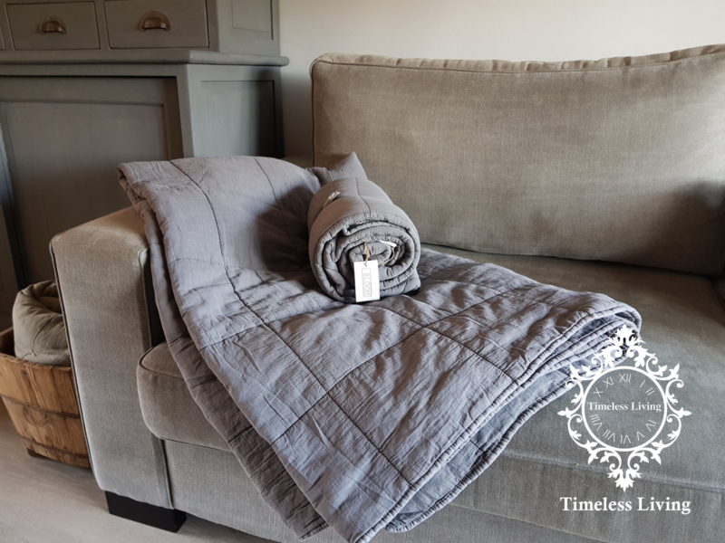 MrsBLOOM warm plaid - Dark Grey 170 x 130 / 220 x 170