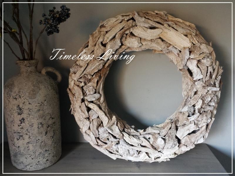 Prachtige landelijke driftwood Krans XL