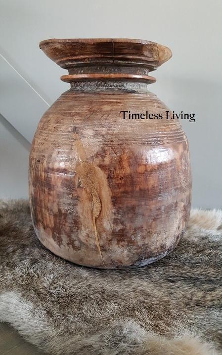 Nepalese houten kruik maat XL - no. 4
