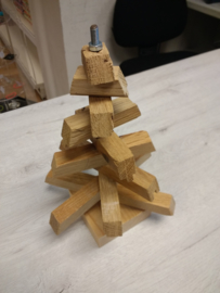 Kerstboom van hout klein