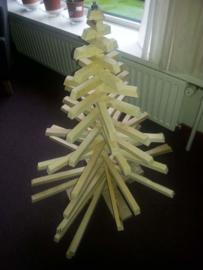 Houten kerstboom groot, hoogte 1 meter