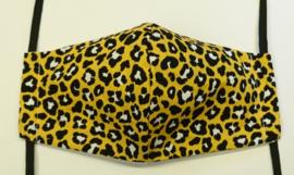 BASIC panter geel GLAD - Maat volwassenen