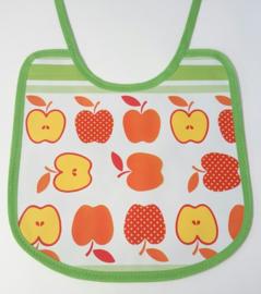 Retro appeltjes en wit gele stip tafelzeil slab dubbelzijdig
