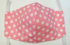BASIC roze witte stip GLAD - Maat volwassenen