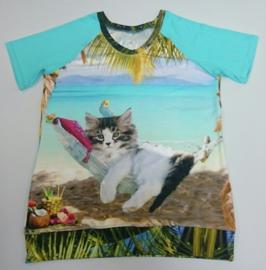 Kat in hangmat op strand - Maat 42/44