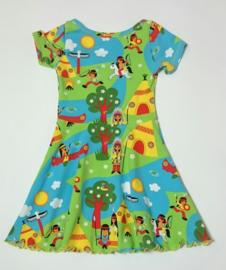 Indianen print jurk - Maat 104
