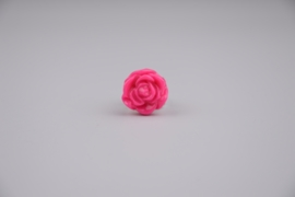 Hot pink rose ring