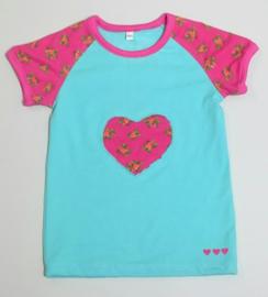 Hartjes bloemetjes shirtje - Maat 98