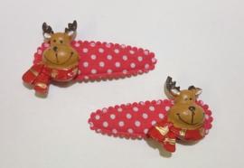 Kerst Rudolph haarspeldjes