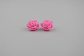 Light pink rose oorbellen