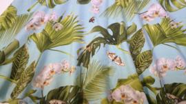 Palmbladeren bloemen rok - Maat 122