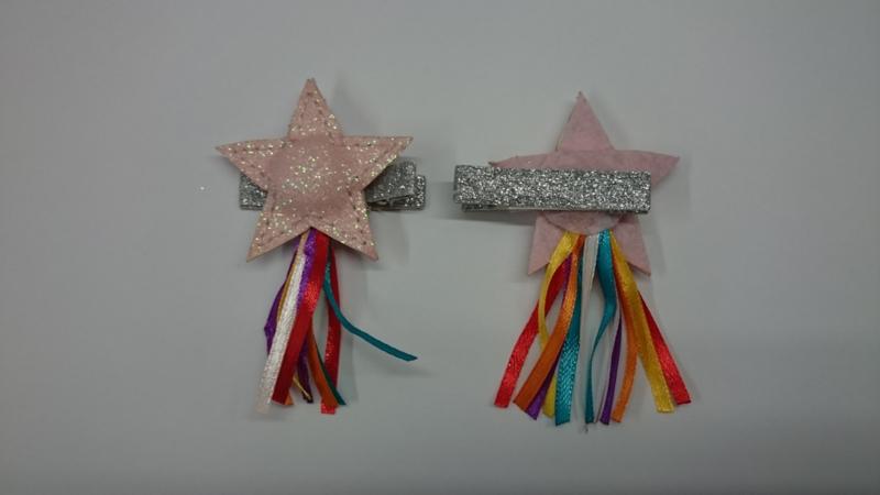 Glitter ster haarspeld - 1 stuk
