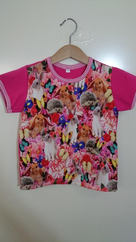 Konijntje shirt - Maat 98