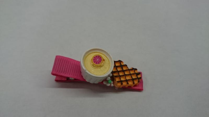 Pudding dessert haarspeldje - 1 stuk