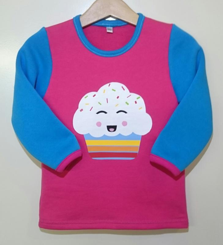 Rainbow cupcake sweater - Maat 92
