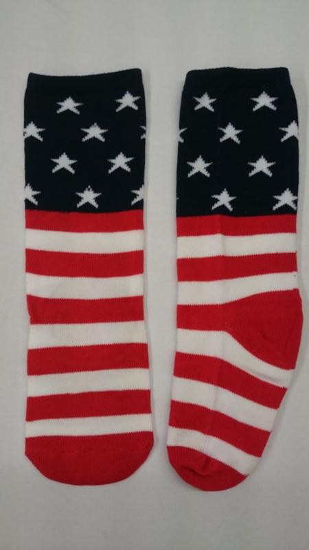 Amerikaanse vlag kniekousen- maat 18/27