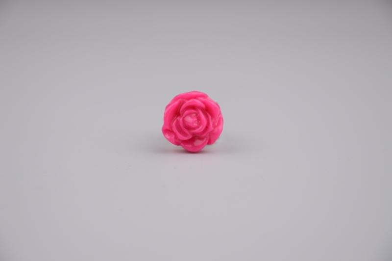 Hot pink rose ring
