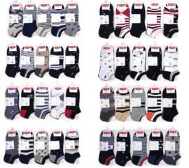 heren katoenen sneakersokken mix pakket printjes 240 paar maat 40-46