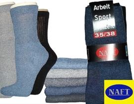 dikke Naft sokken met badstof (120 paar)