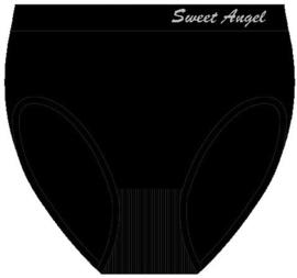 12 zwarte naadloze slips van Sweet Angel