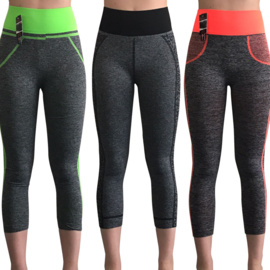 sportleggings 3kwart (12 pack)