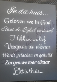 In dit huis geloven we in God