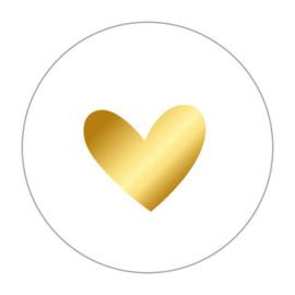 Sticker - Hartje met goud folie