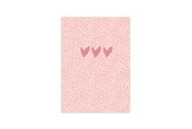 Schriftje A6 - Roze hartjes
