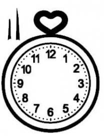 Klok met hart en wijzers