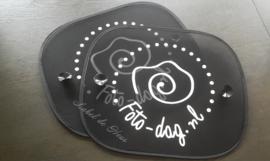 Zonnescherm met eigen logo