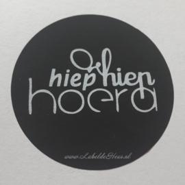 Sticker - Hiep Hiep Hoera - 10 stuks