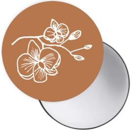 Spiegel Orchidee Cognac