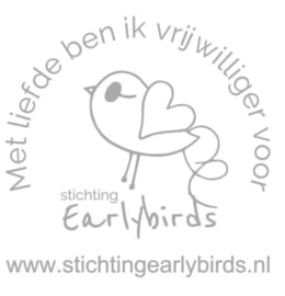Sticker Earlybirds Vrijwilliger