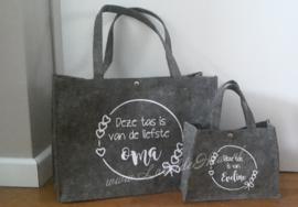 Vilten tas - Deze tas is van de liefste .... - Groot