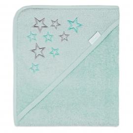 Badcape met sterren, mint