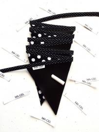 Krijtbord slinger - 10 vlaggetjes - Stippen
